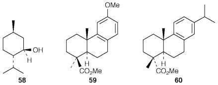 The trans A/B stereochemistry of the abietic and pimaric acids was established 4 6 by