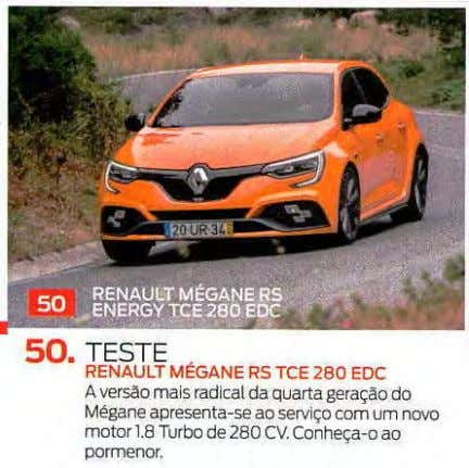 """ RENAULT MÉGANE RS ENERGY TCE 280 EDC • 50. TESTE RENAULT MÉGANE RS TCE"