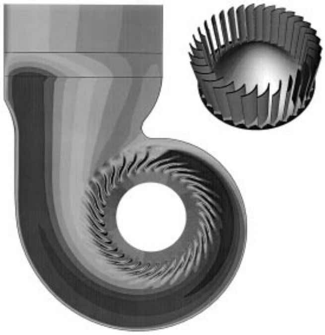Computer-Aided Engineering 15 -29 FIGURE 15.2.9 Three-dimensional vector field plot for torque converter simulation. FIGURE 15.2.10