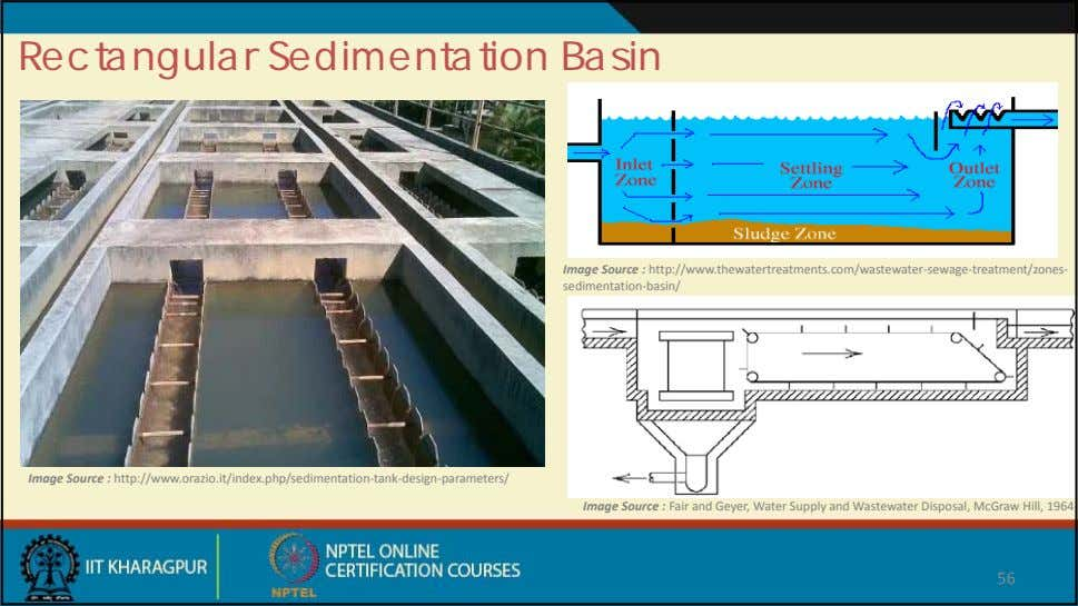 Rectangular Sedimentation Basin Image Source : http://www.thewatertreatments.com/wastewater‐ sewage ‐
