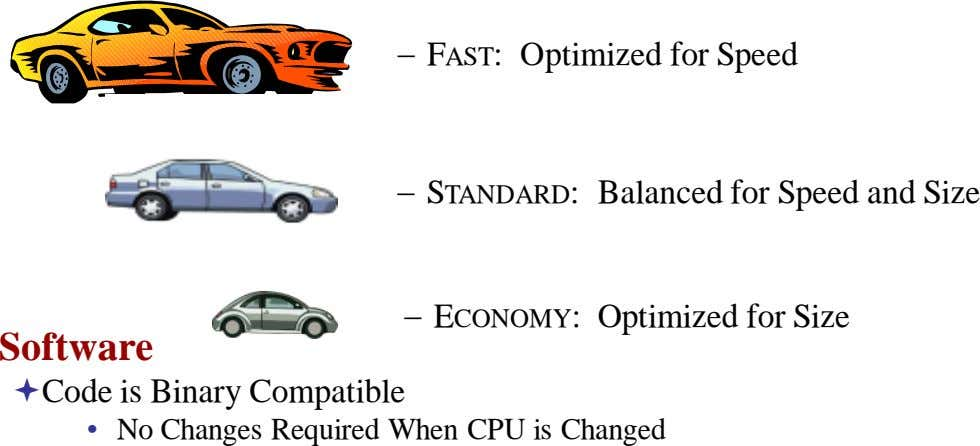 − FAST: Optimized for Speed − STANDARD: Balanced for Speed and Size − ECONOMY: Optimized