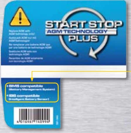 Start-Stop Plus 4 5 6 Deckeletikett VARTA Start-Stop Plus Start-Stop Plus Batterien 5 4 6 Bitte