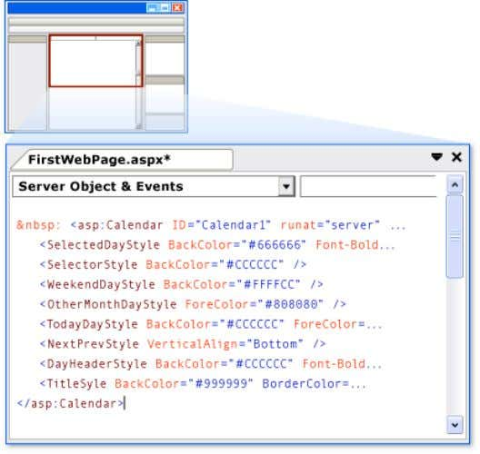 Programming the Calendar Control In this section, you will program the Calendar control to display