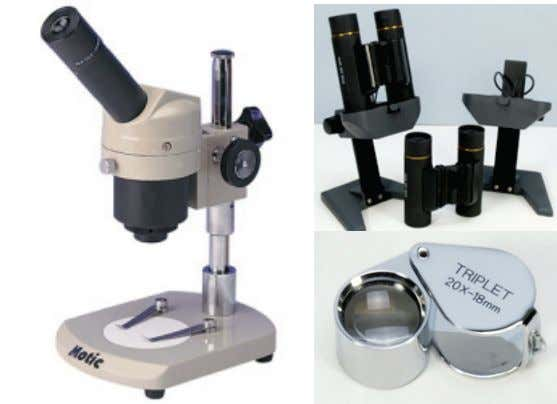 will initially need one-to-one adult help getting started. A traditional compound microscope, above right, is only