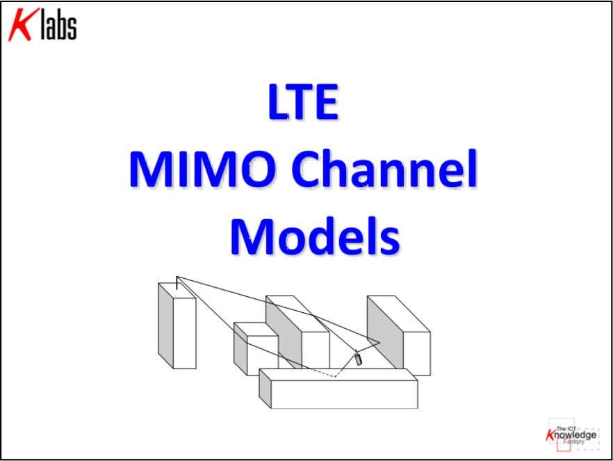 LTE MIMO Air Interface K Labs S.r.l. all right reserved Cap 3 - pag. 39