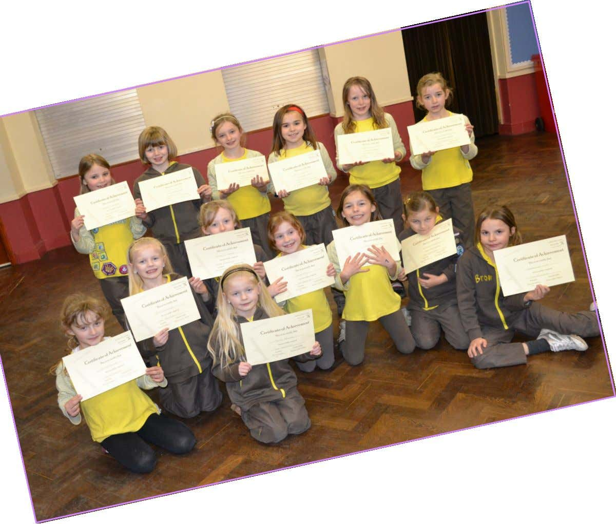 19 St Marks Brownie Pack with their astronomy Wise Certificates. www.astronomy - wise.com