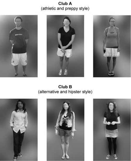 SAMPLE PHOTOS OF CLOTHING WORN BY MEMBERS OF CLUBS A AND B N OTE .—Color version
