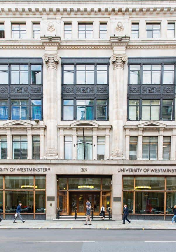 INTRODUCTION WELCOME TO WESTMINSTER Welcome to the University of Westminster Scholarships Brochure for applications for