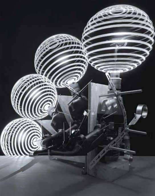 caleB charland Four Spheres With Compass, Penlight and Drill : Study With Flashlight : From the series