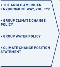 • THE ANGLO AMERICAN ENVIRONMENT WAY, VOL. 1Y2 • GROUP CLIMATE CHANGE POLICY • GROUP