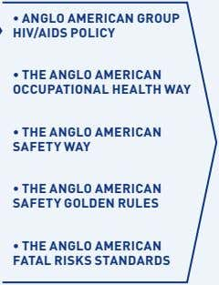 • ANGLO AMERICAN GROUP HIV/AIDS POLICY • THE ANGLO AMERICAN OCCUPATIONAL HEALTH WAY • THE