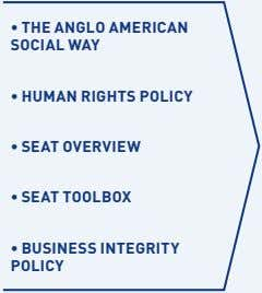 • THE ANGLO AMERICAN SOCIAL WAY • HUMAN RIGHTS POLICY • SEAT OVERVIEW • SEAT