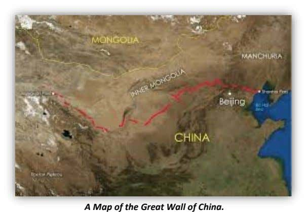 A Map of the Great Wall of China.