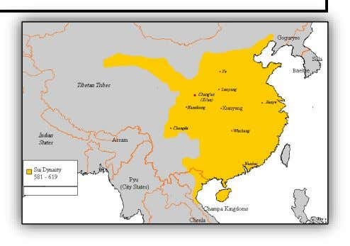 Sui Dynasty 589-618 C.E. Key concepts you will learn about at this station: Leadership/Government - How