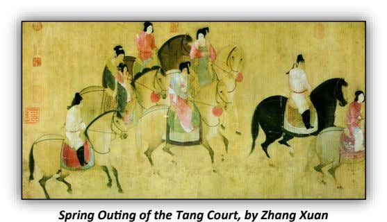 Spring Outing of the Tang Court, by Zhang Xuan
