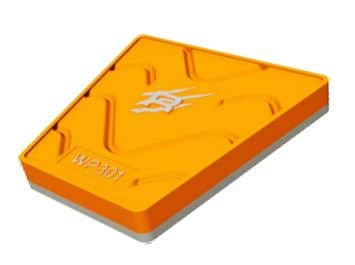 "increase productivity with Laminated Wear Parts Trapezoid "" A "" width length height "" B """