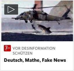 VOR DESINFORMATION SCHÜTZEN Deutsch, Mathe, Fake News