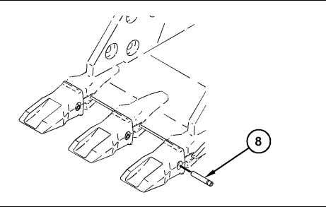 Follow Step 5.a through Step 5.e for the procedure. Illustration 195 (8) Pin g01209166 a. Insert