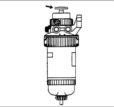 System Primary Filter (Water Separator) Element - Replace Illustration 239 g01098216 1. Operate the fuel priming