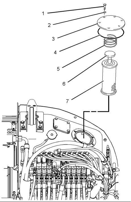 in order to relieve the pressure in the hydraulic oil tank. Illustration 255 g01189656 Note: Refer