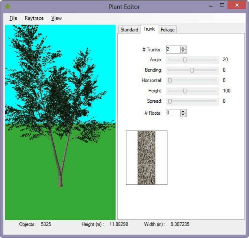 Rendering with AutoCAD using nXtRender Change the Parameters and see the results at the left. Foliage