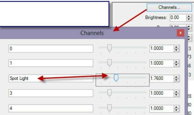 Lighting Channels - 4.7 As you adjust the channels, the tone-operator will compensate. All of the