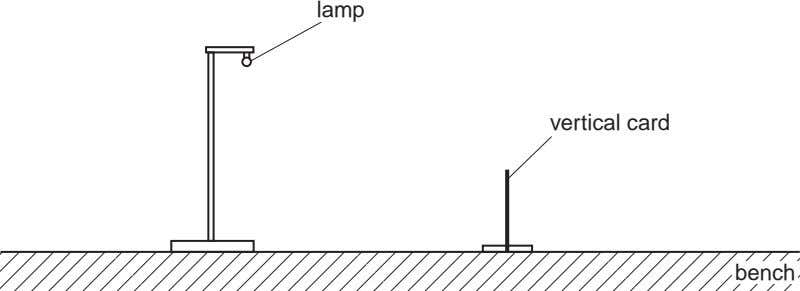lamp vertical card bench