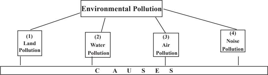 Environmental Pollution (4) (1) (2) (3) Noise Land Water Air Pollution Pollution Pollution Pollution C