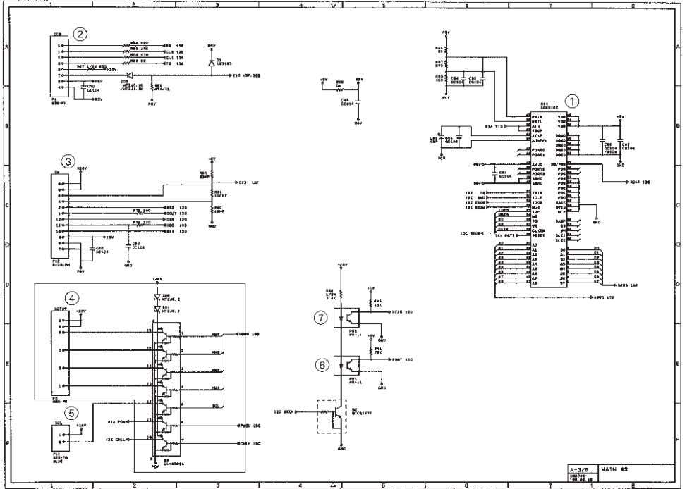 [ 3 ] Image processing group Main PCB Circuit Diagram 3/4 1 Image processor (Image processing