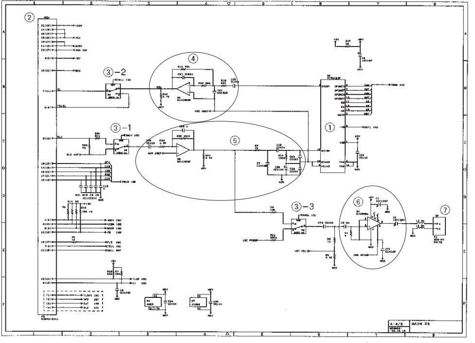 [ 4 ] Analog signal processing group Main PCB Circuit Diagram 4/4 1 Analog front end