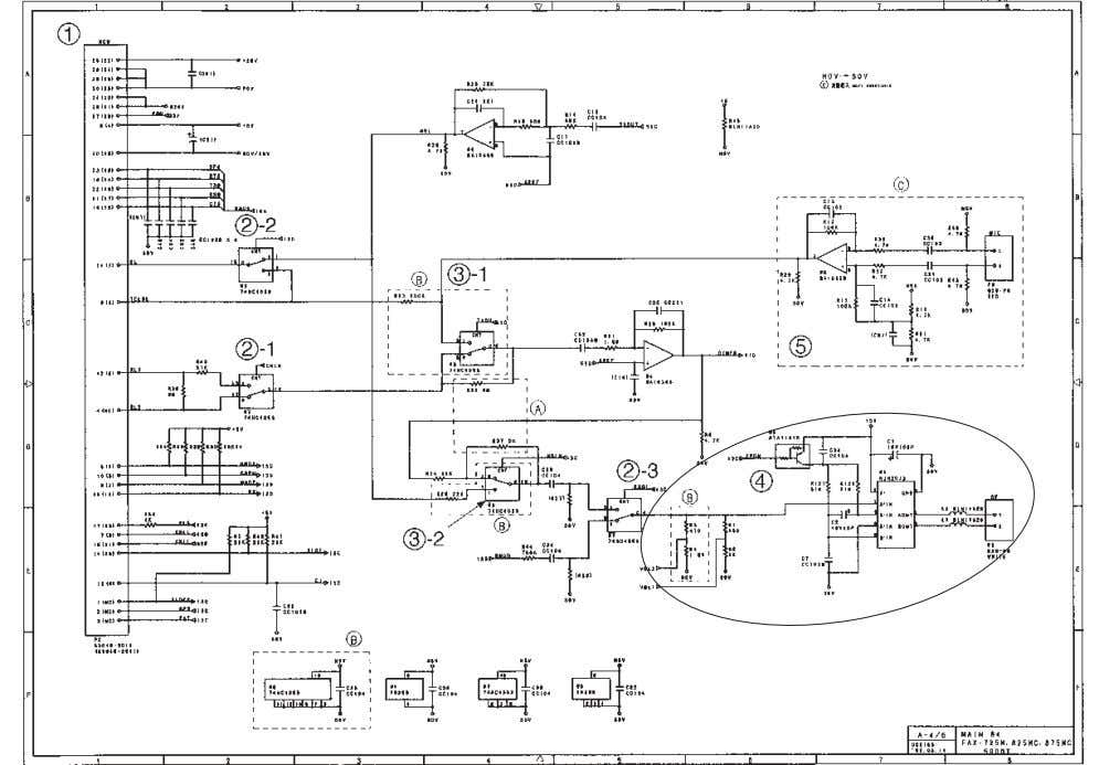 [ 4 ] Analog signal processing group Main PCB Circuit Diagram 4/5 1 Main-NCU connector 2