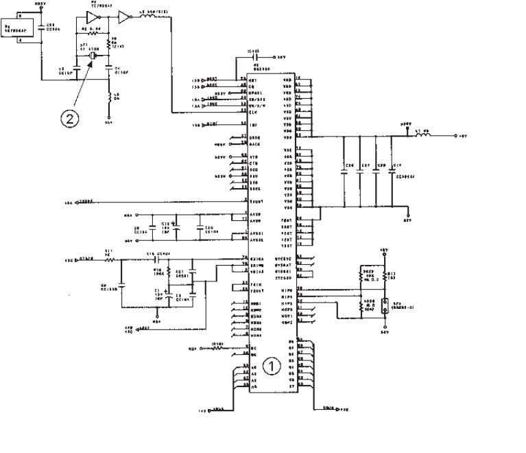 [ 5 ] MODEM 1 MODEM 2 Clock for MODEM Main PCB Circuit Diagram 5/5 III