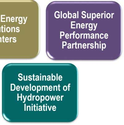 Global Superior Energy Performance Partnership Sustainable Development of Hydropower Initiative