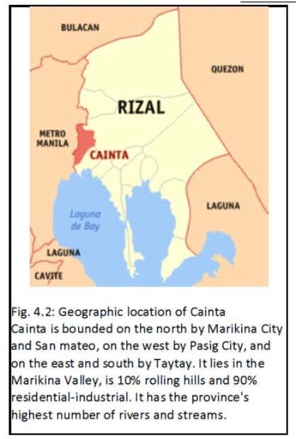 and one of the Wealthiest Municipalities in the Philippines The first-class urban municipality of Cainta in