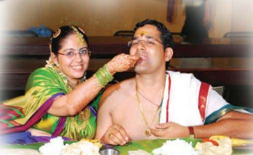 on the marriage day 22 is a very grand one with many courses. The wife along