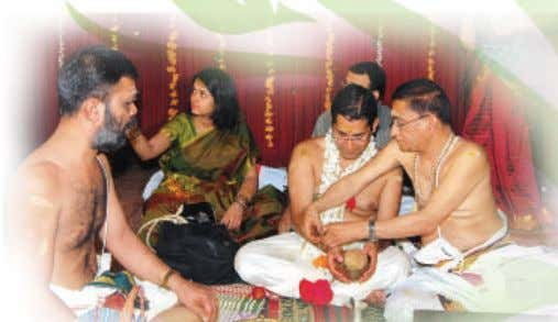 by the bride and the groom separately. Vratham literally means offering of prayers while fasting. The