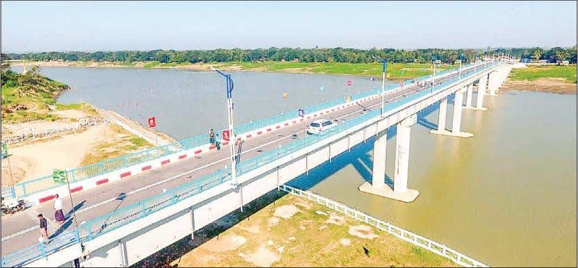 12 3 FEBRUARY 2019 THE GLOBAL NEW LIGHT OF MYANMAR Nga Wun Bridge (Laymyethna) inaugurated NGA