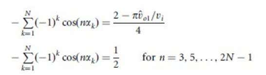 Fundamental magnitude control (N ÿ 1 . 3), the equations to be solved are: where the