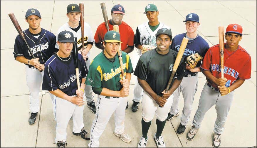 in the GTA 2010 TORONTO STAR High school baseball All Stars BACK ROW: Left to right,
