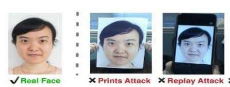 Then these images are placed directly infront of the camera. Fig. 3. Example of printed attack
