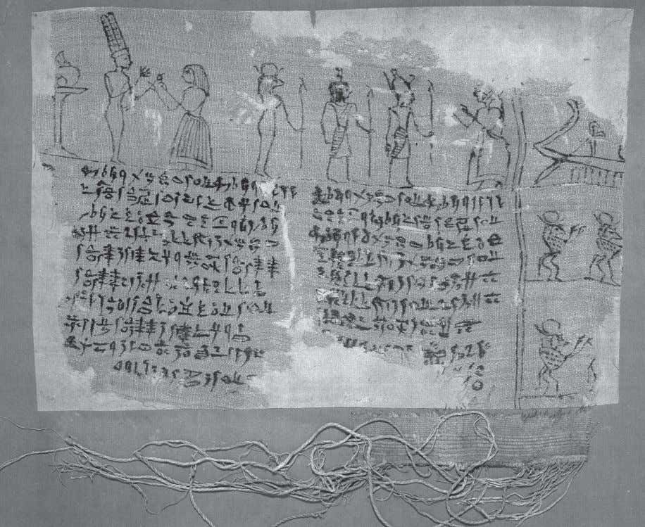 "Fig. 2: Hieratic fragment belonging to a woman called Ns- @r- pA- RA (""Ryl. Hieroglyphic"