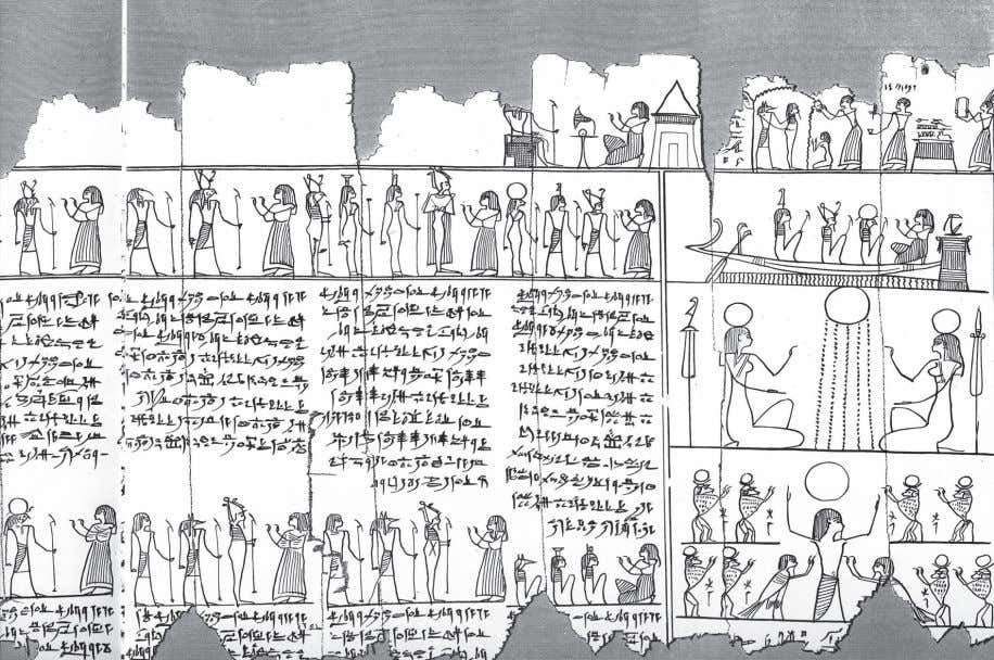 "Fig. 3: Papyrus Paris BN 93 + 98. glyphic Manuscript 3"" in the Museum catalogue"