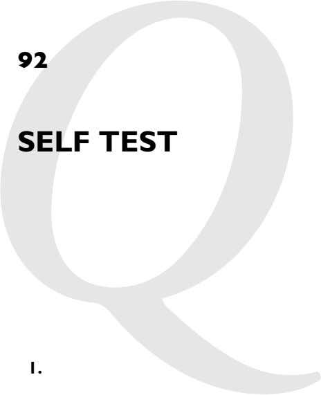 92 Chapter 2: SELF TEST 1.