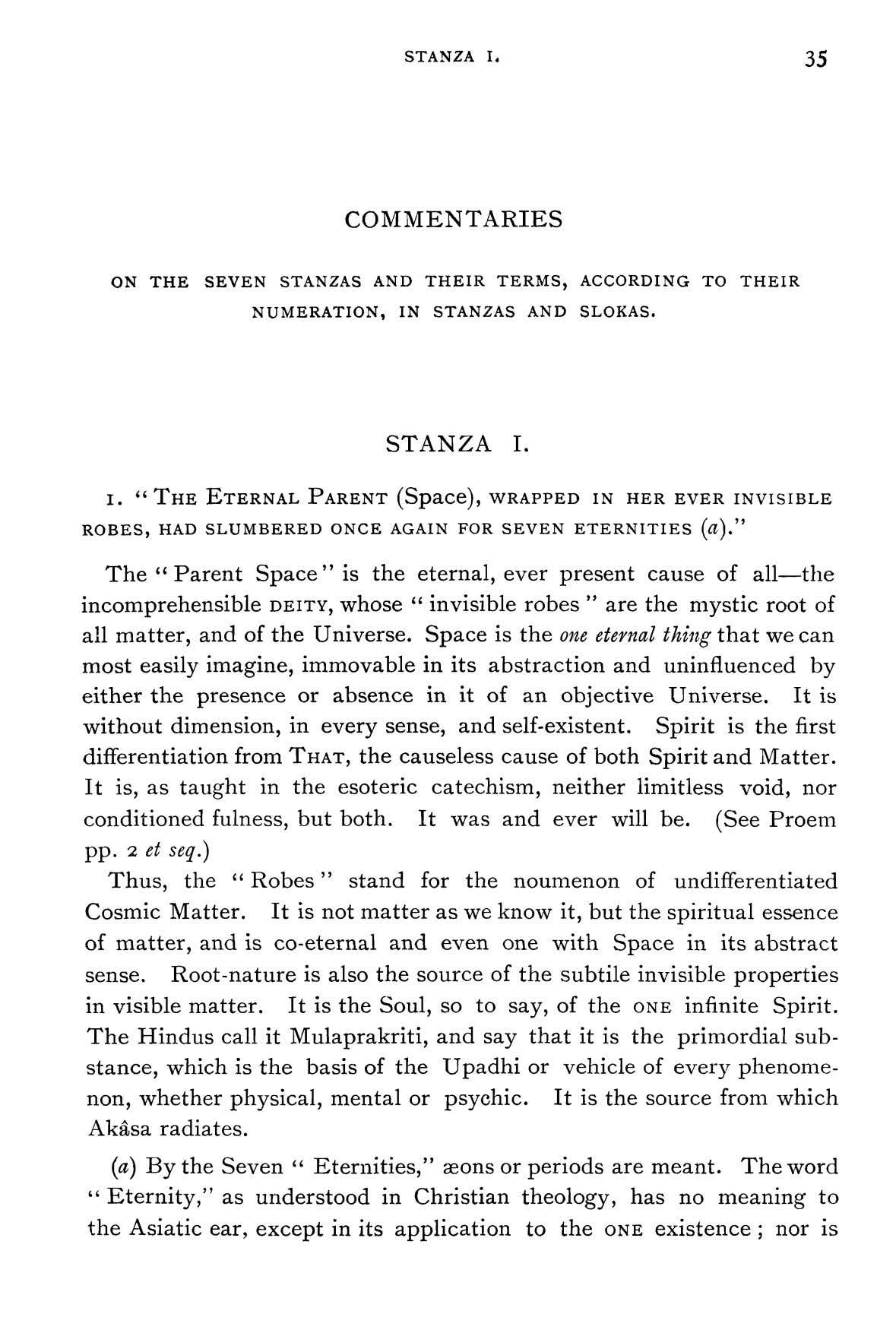 STANZA L 35 COMMENTARIES ON THE SEVEN STANZAS AND THEIR TERMS, ACCORDING TO THEIR NUMERATION,
