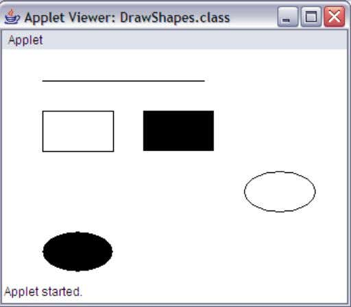 E:\java programs>appletviewer DrawShapes.java SARADA INSTITUTE OF TECHNOLOGY & SCIENCE SARADA NAGAR,