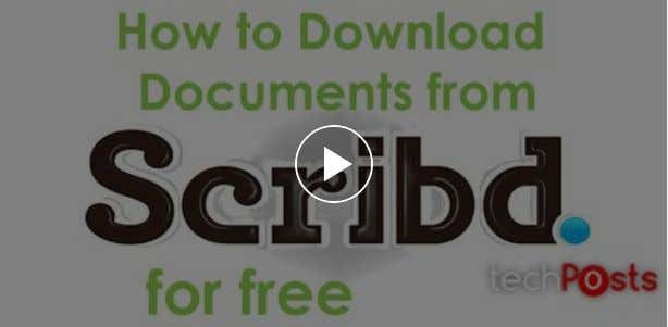 free from Scribd and it's simple which is explained in this video. Hope this helps you.