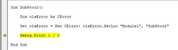 mode, you get kicked to the line that caused the error. Is that that last hurdle?