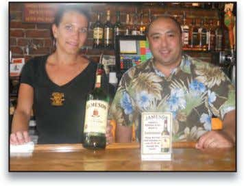 Pahoa's monthly tasting event featured Sam Smith Beers. (L to R) Ashley Mosher, Bartender - O'Toole's