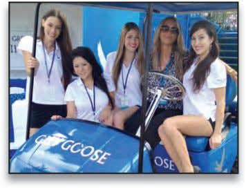 arOUnd haWaii Grey Goose hosted customers, VIPs, celebrities and media on the 18th green at the