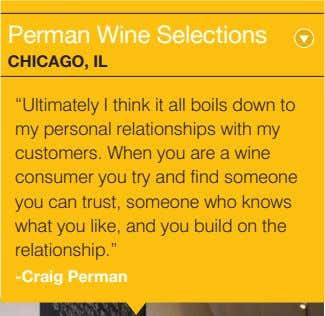 "Perman Wine Selections ChiCago, iL ""Ultimately I think it all boils down to my personal"